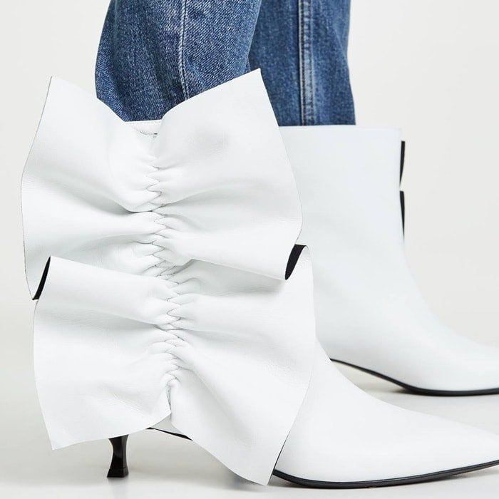 Diaper Ornamented White Boots