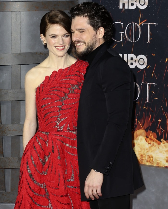 Kit Harington and Rose Leslie looked like the perfect pair