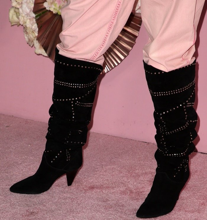 Rosie Huntington-Whiteley's Ladra studded suede over-the-knee boots