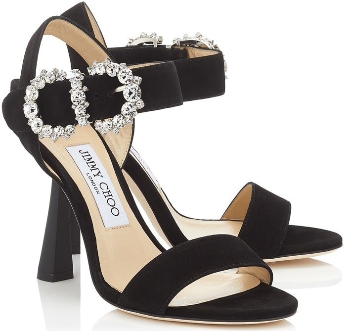 Elevate your evening wear with the unapologetically sexy Sereno in black suede