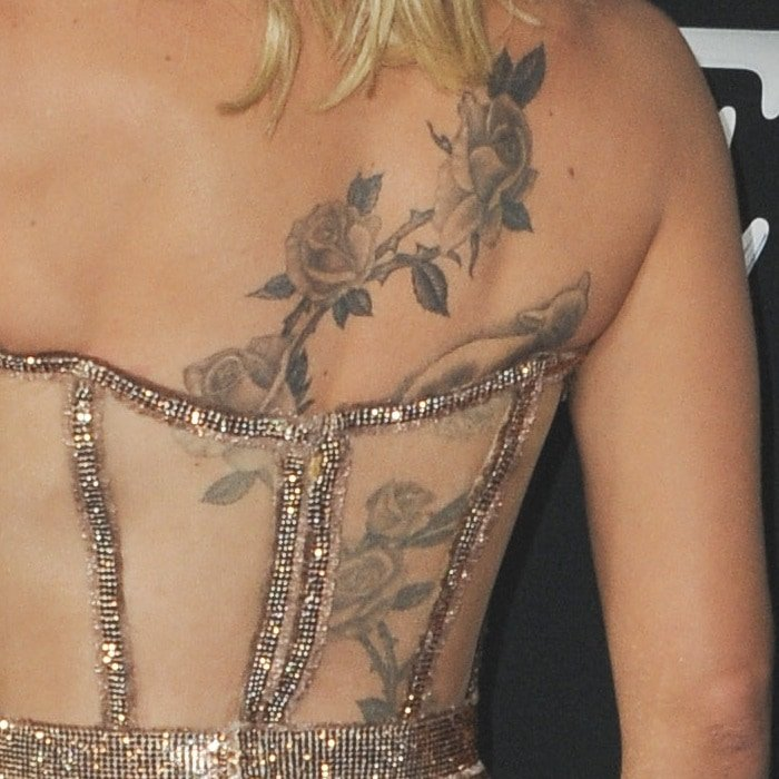 Scarlett Johansson's back tattoo could be inspired by her daughter, Rose Dorothy Dauriac