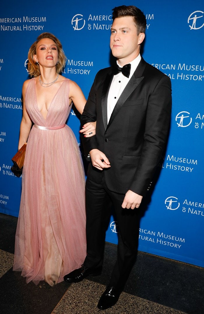 Scarlett Johansson and Colin Jost at the 2018 American Museum of Natural History Gala in New York City on November 15, 2018