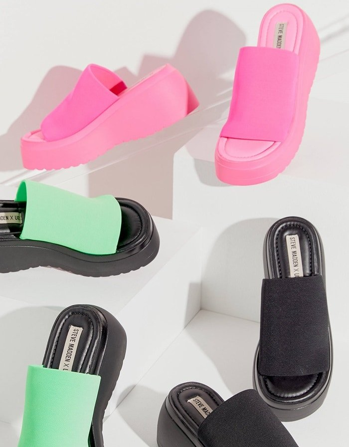 Relive the glory days of the '90s with this throwback slide sandal