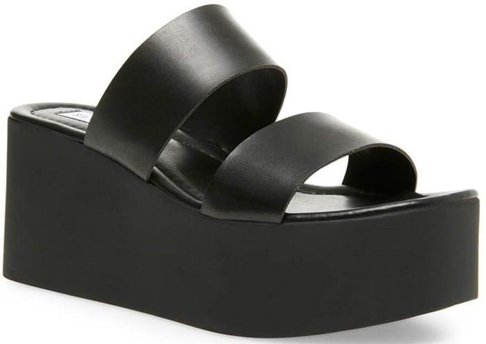 Black Kailani Platform Sandals