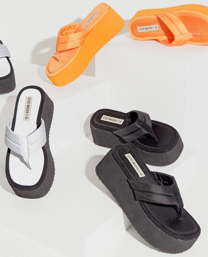 Slip into classic '90s style with this throwback platform sandal