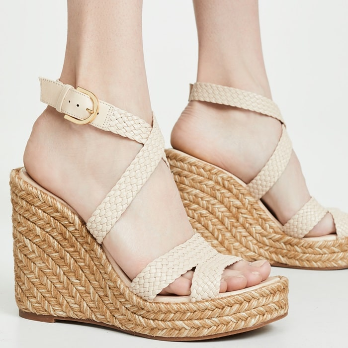 Andros Elsie Tricolor Espadrille Wedge Sandals