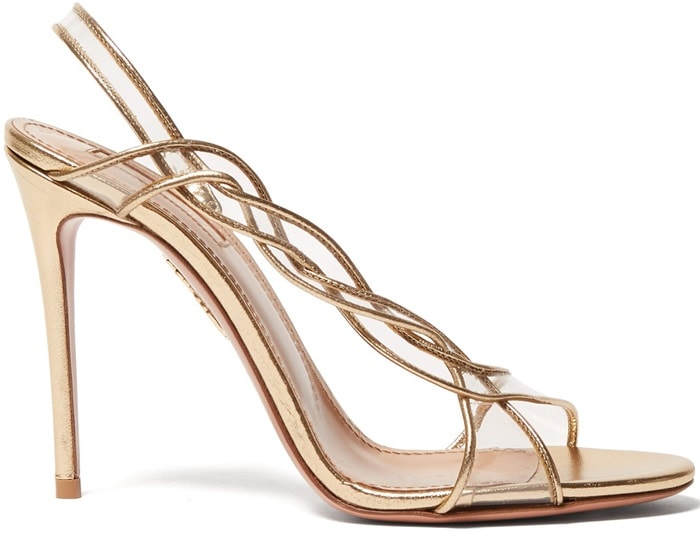 These gold Swing sandals typify Aquazzura's seductive design DNA with their sultry silhouette