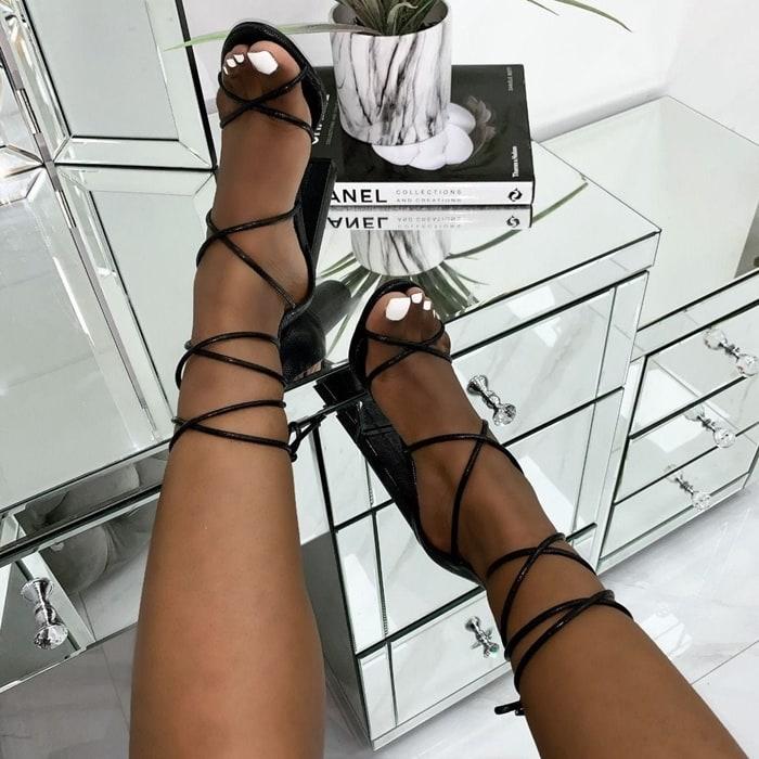 Tamina Strappy Block Heels