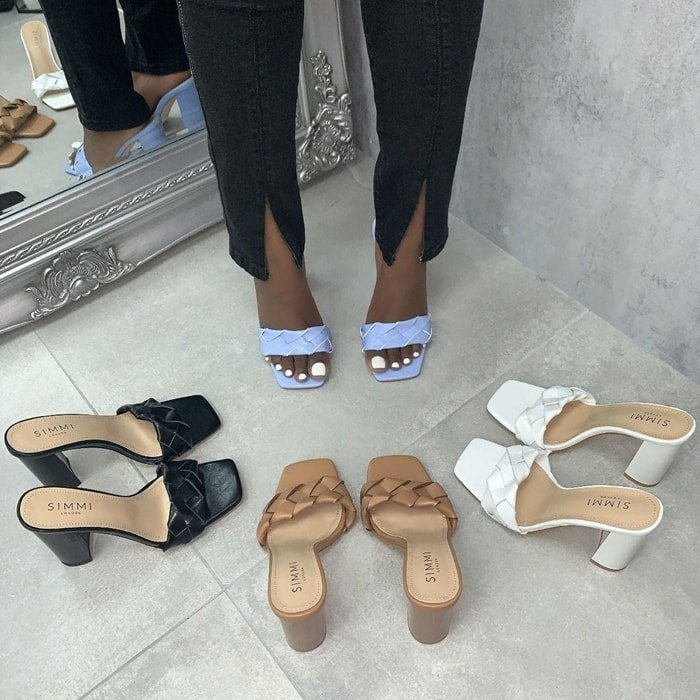 Toura Woven Block Heels
