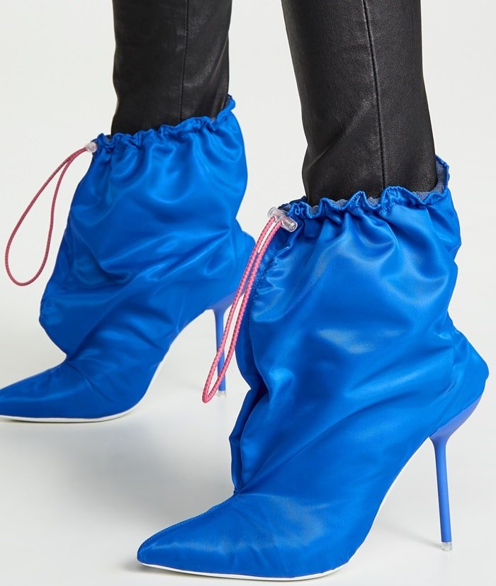 Blue Garbage Boots by Unravel Project
