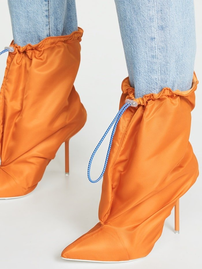 Orange Laundry Bag Shoes by Unravel Project
