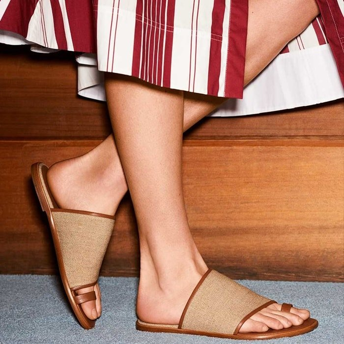 Edan sandals with a minimalist upper and toe-ring design