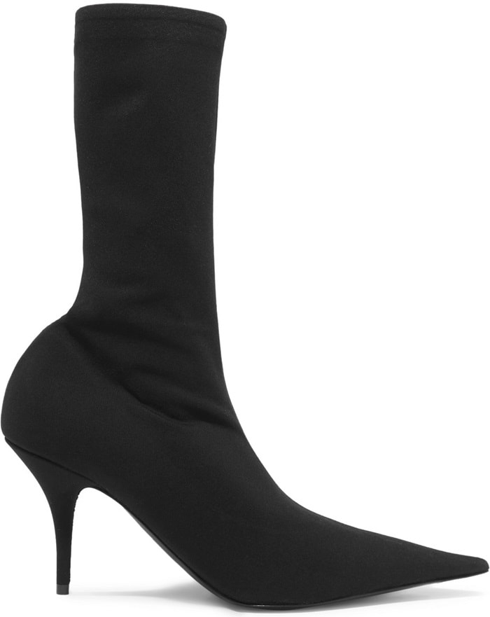 These boots are made from spandex that has a leg-elongating effect and will prevent the boots from slouching down