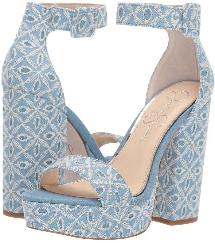 Blue Denim Caiya Wedges