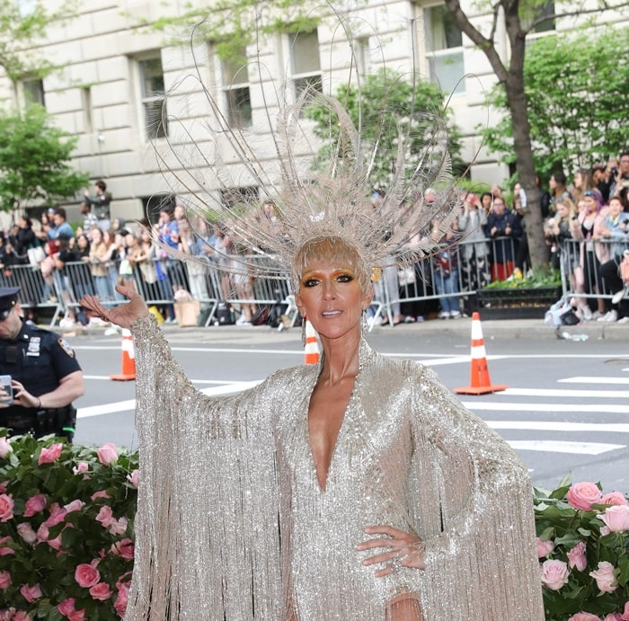 52 master embroiderers spent over 3,000 hours to create Celine Dion's fringe dress