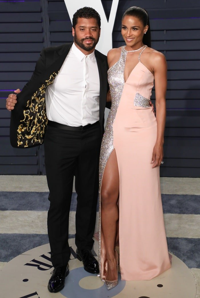 Ciara and Russell Wilson at the 2019 Vanity Fair Oscar Party