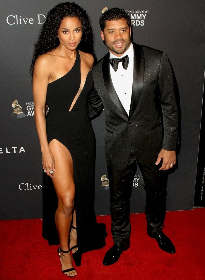 Ciara and her husband Russell Wilson at Clive Davis' Pre-Grammy Gala and Grammy Salute Industry Icons Honoring Clarence Avant