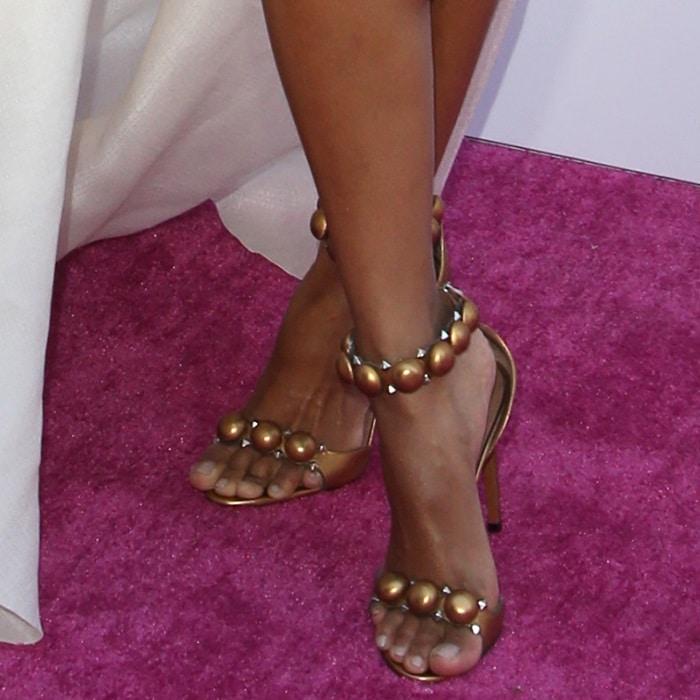Ciara's hot feet in Azzedine Alaïa sandals