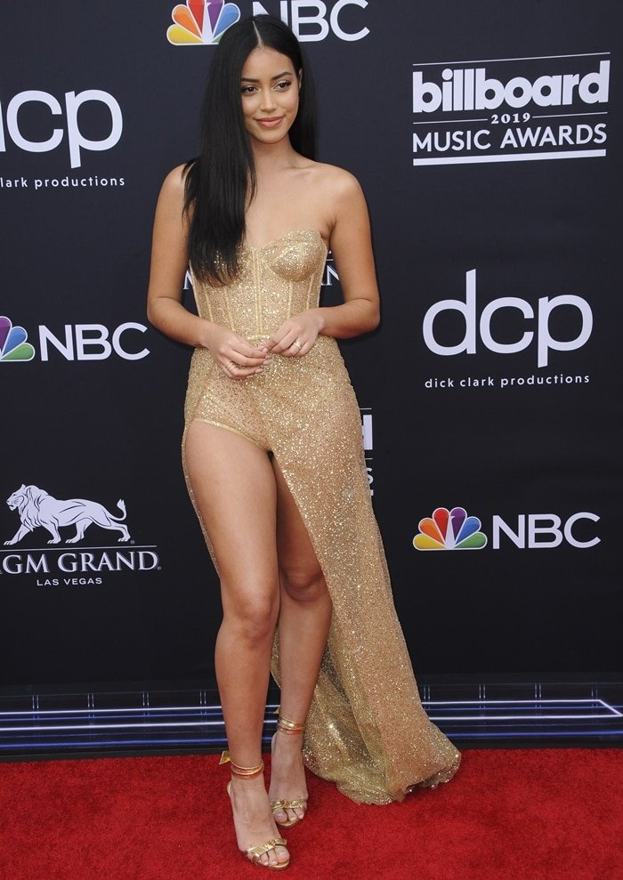 Cindy Kimberly flaunted her legs at the 2019 Billboard Music Awards