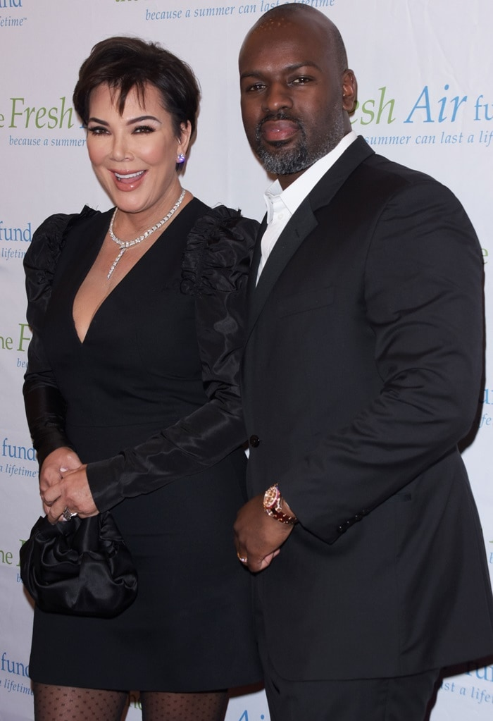Kris Jenner and boyfriend Corey Gamble attending the 2019 Fresh Air Fund Spring Benefit
