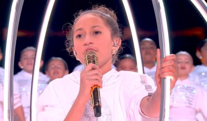 """Emme Maribel Muñiz sang a portion of """"Let's Get Loud"""" during the Halftime Show at the 2020 Super Bowl"""