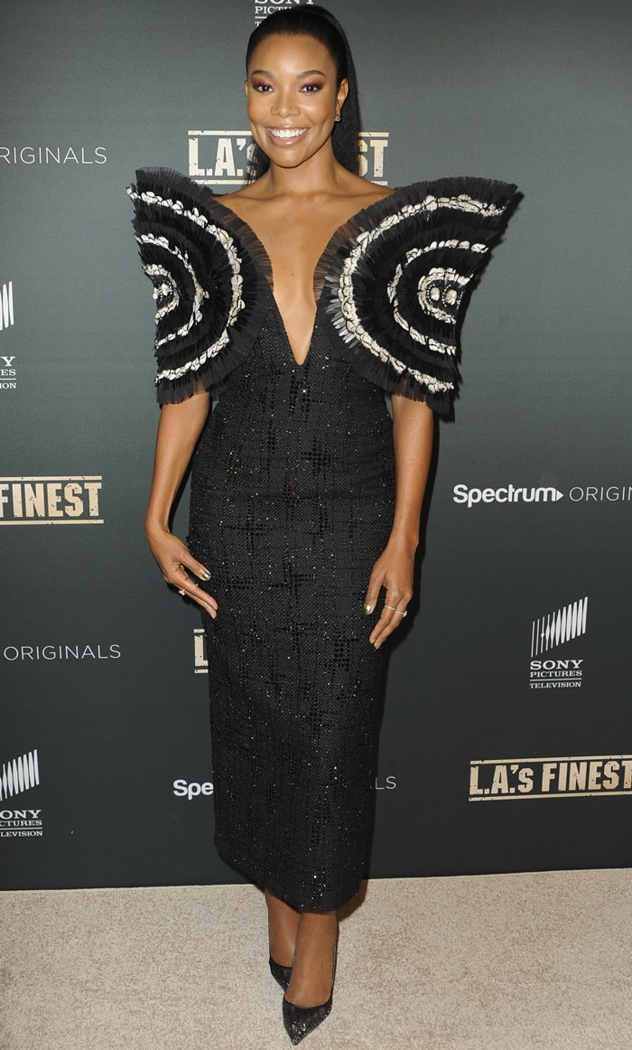 Given her height of 5 ft 71⁄2 in (171 cm), Gabrielle Union's shoe size should not surprise you