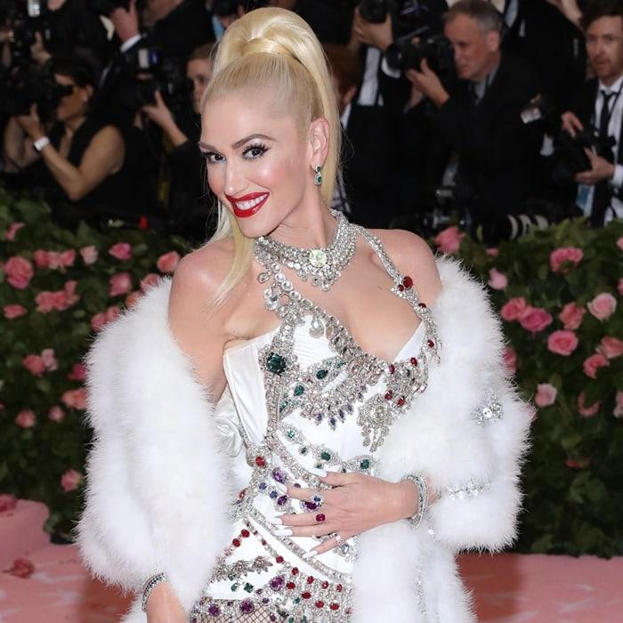 Gwen Stefani's stunning crystal-embellished leotard