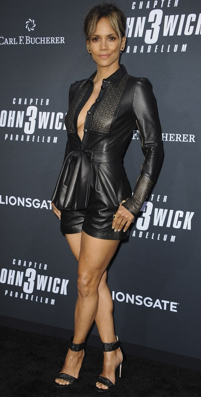 Halle Berry flashed her sexy legs at the premiere of John Wick: Chapter 3 – Parabellum