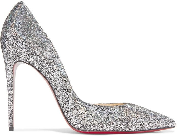 This pump is coated in iridescent metallic flecks that reflect the light in the most glamorous way.