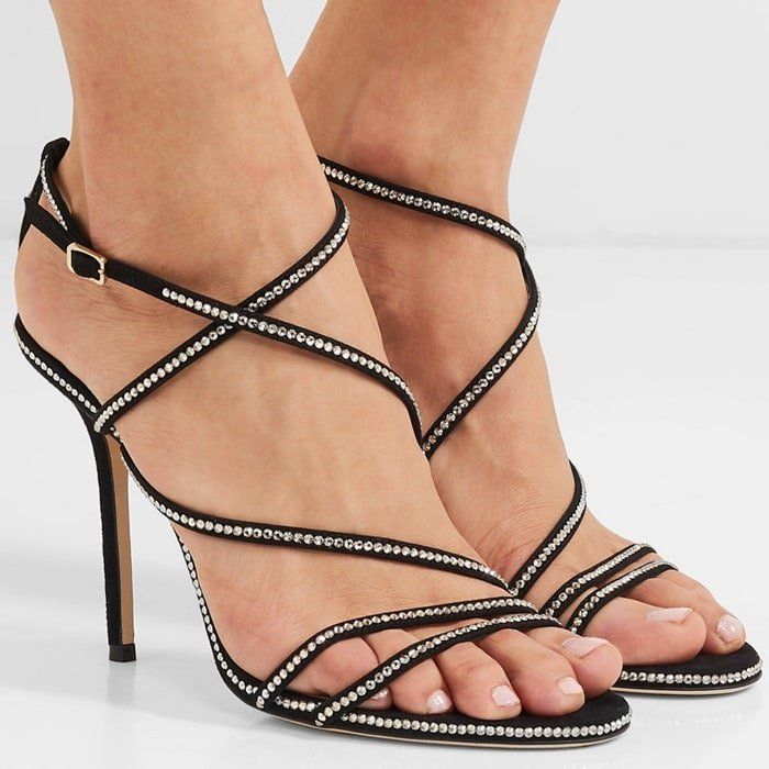 Add a sultry twist to your summer edit with the Dudette 100 sandals from Jimmy Choo
