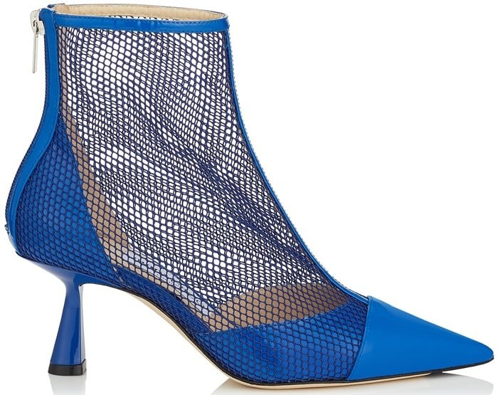 KIX 65 Electric Blue Patent Mesh Pointed Toe Bootie