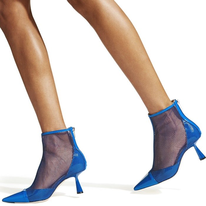 Blending striking modern mesh with an elegant silhouette, Kix in electric blue patent will refresh your looks in a flash