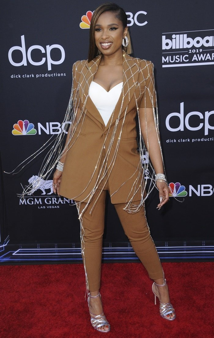Jennifer Hudson's fringe pants showcase the New York label's '80s nightclub inspiration