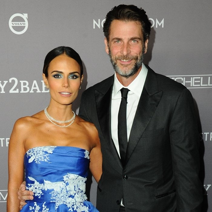 Jordana Brewster and her husband Andrew Form at the 2019 Baby2Baby Gala