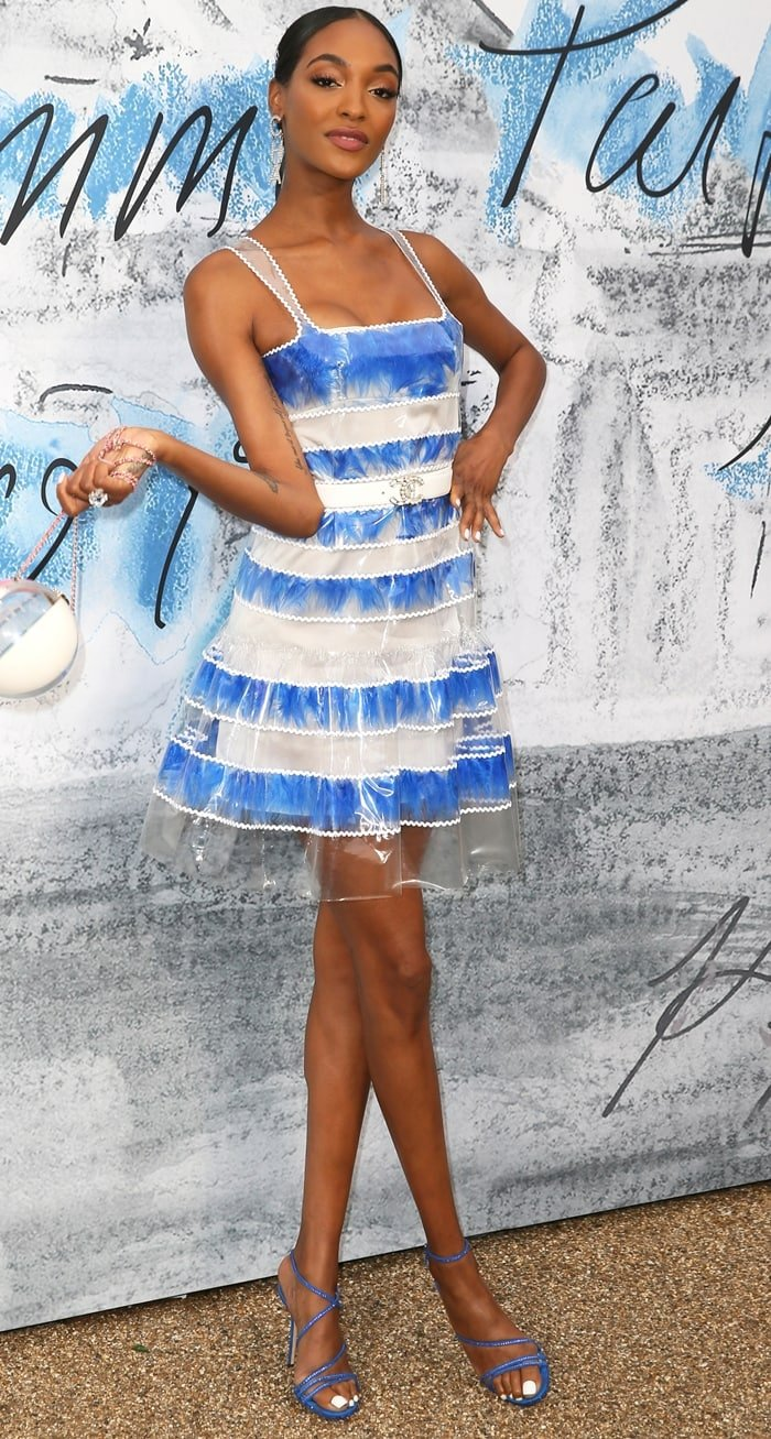 Jourdan Dunn looked ready for summer at the Serpentine Gallery's Summer Party