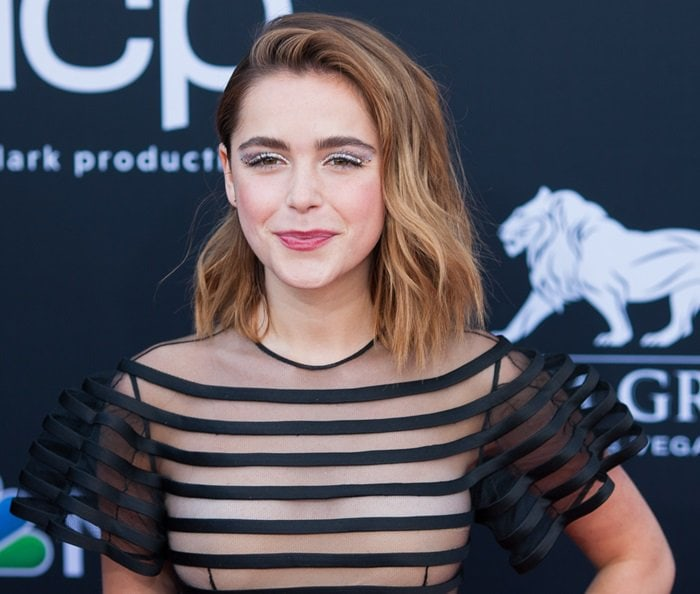 Kiernan Shipka covered her nipples with a nude modesty panel