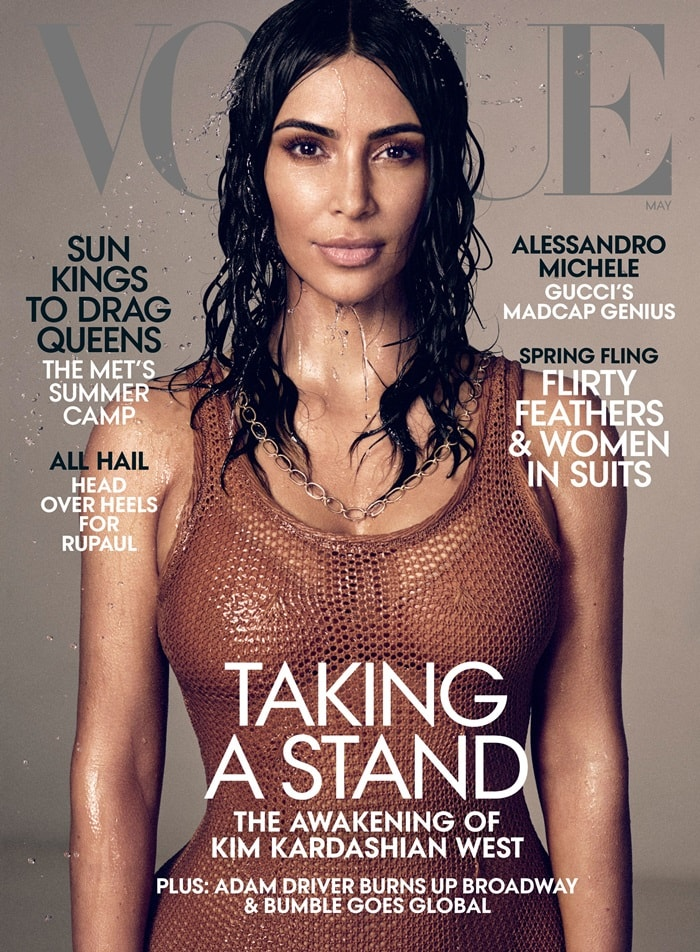 Kim Kardashian is on the cover of Vogue's May 2019 issue
