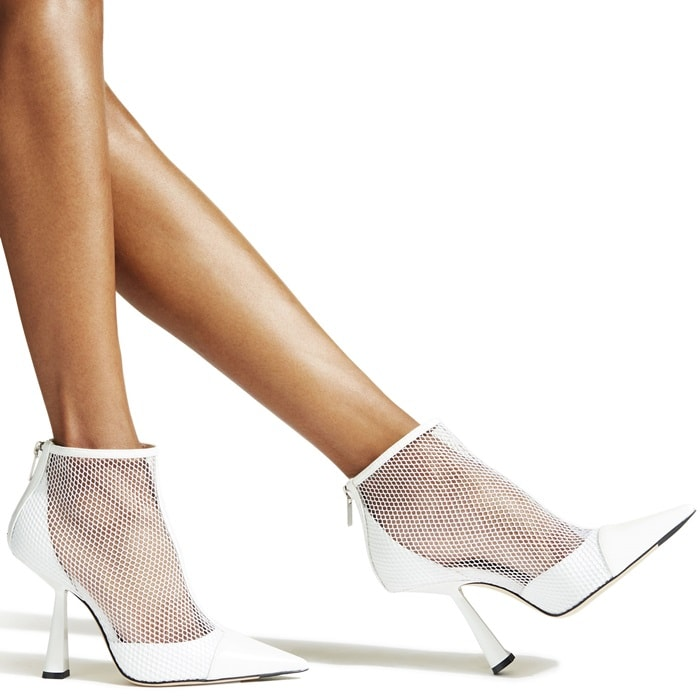 Blending striking modern mesh with an elegant silhouette, Kix in latte patent will refresh your looks in a flash