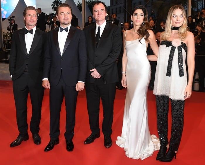 Daniela Pick, Quentin Tarantino, Leonardo DiCaprio, Brad Pitt, and Margot Robbie