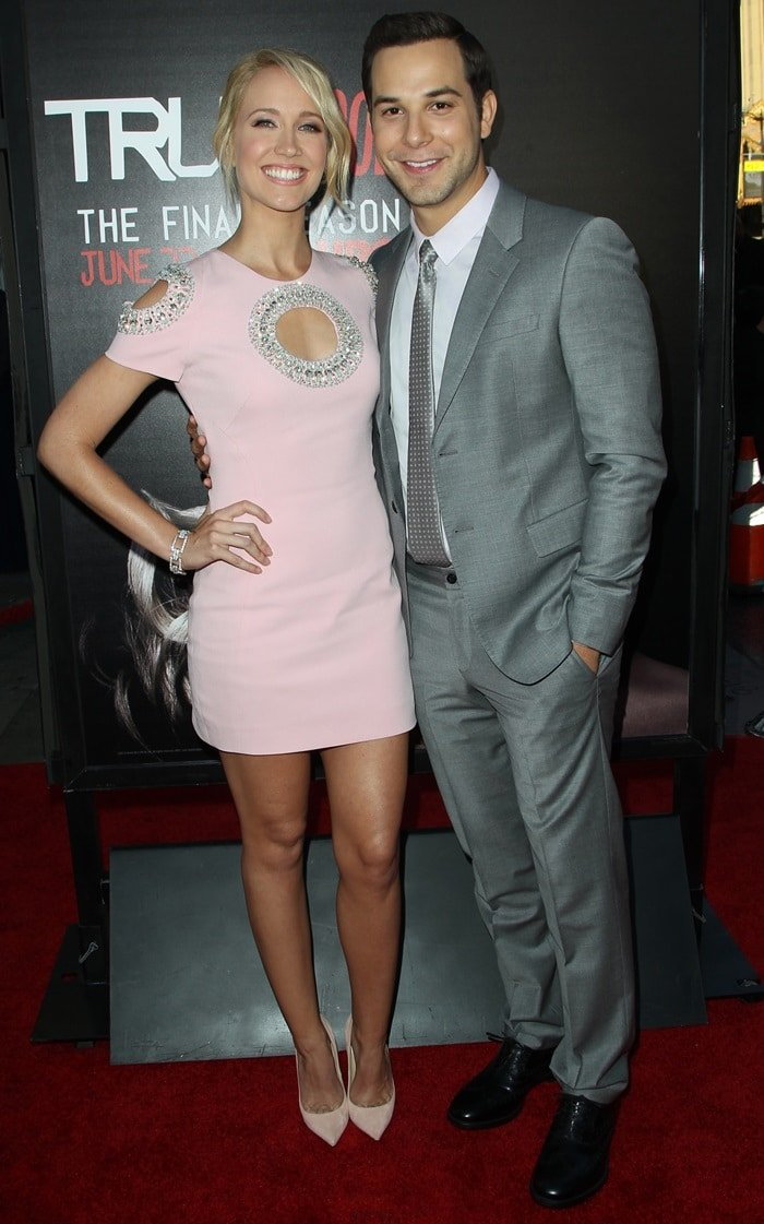 Michael Mosley and Anna Camp attend the premiere of HBO's 'True Blood' season 7 and final season