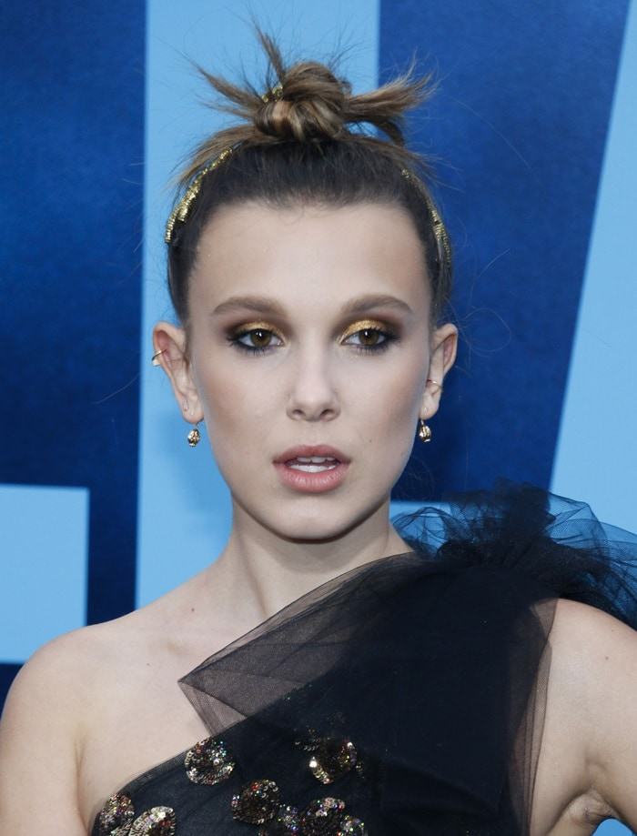 Millie Bobby Brown's sparkling jewelry included Cactus de Cartier earrings