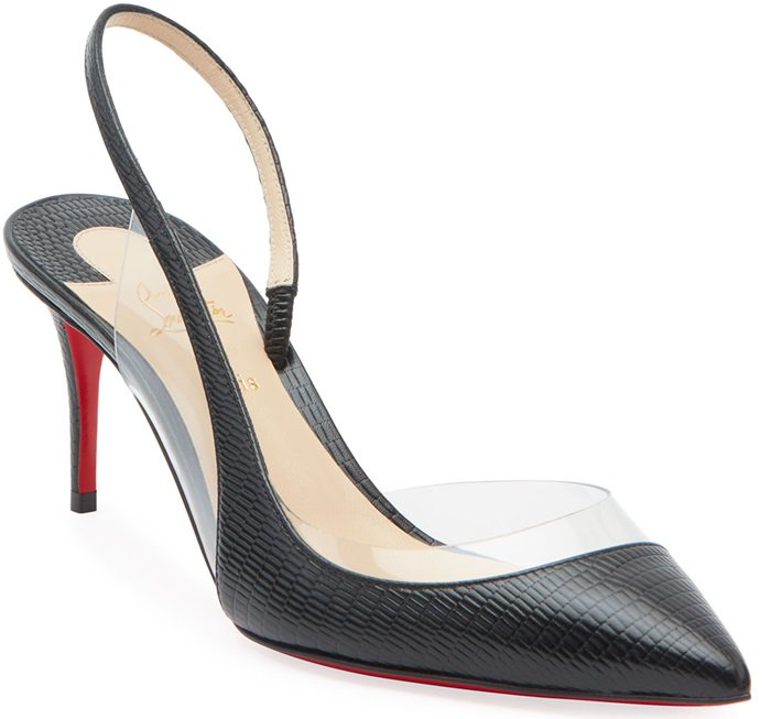 These sophisticated slip-ons are finished with a slingback strap and stiletto heel.