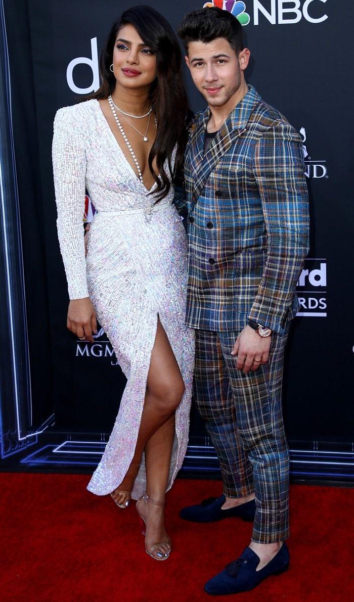 Priyanka Chopra with her husband Nick Jonas at the 2019 Billboard Music Awards