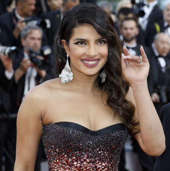 Priyanka Chopra at the premiere screening of 5B held during the 2019 Cannes Film Festival in Cannes, France, on May 16, 2019