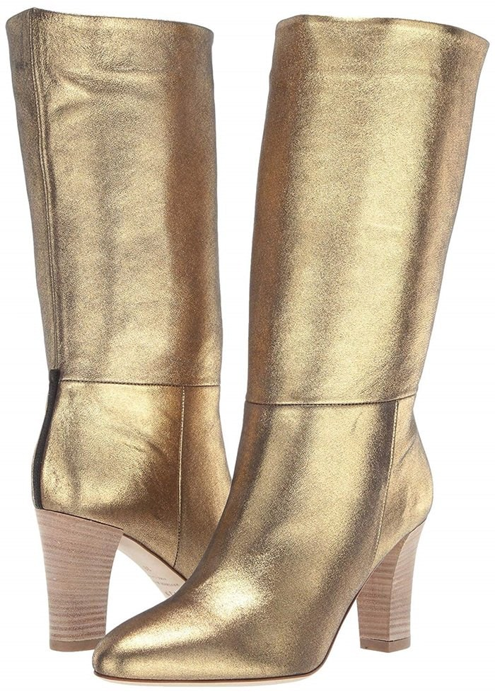 The cool and casual slouch of this Regin almond toe mid calf boot proves that not all boots are made equal