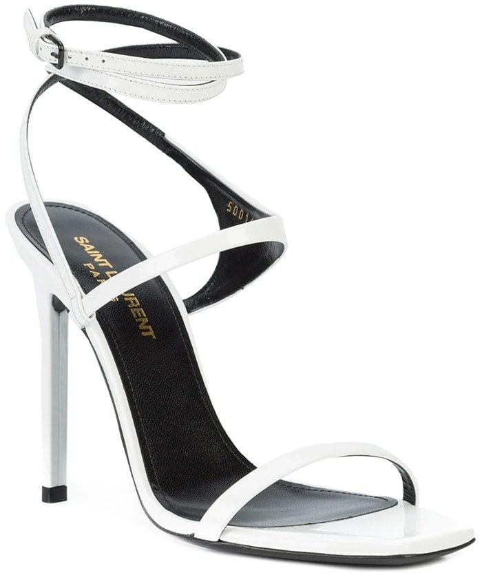 Saint Laurent Amber 105 Crossover Strap Sandals