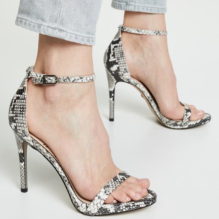 This sleek stiletto is inspired by Parisian style and adds both edge and glamour to any an evening look