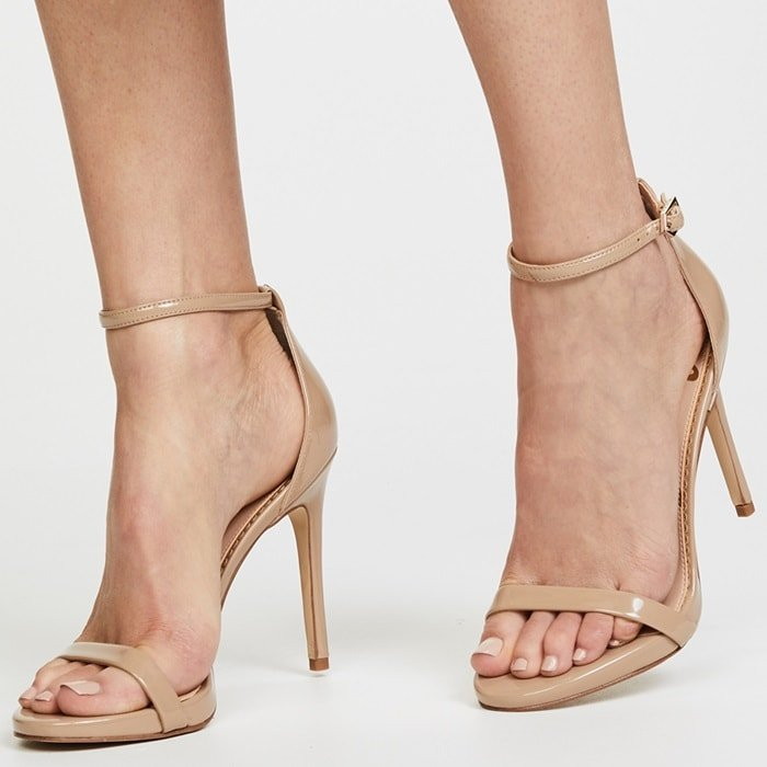 These faux-patent Sam Edelman sandals are sleek, sexy, and totally alluring