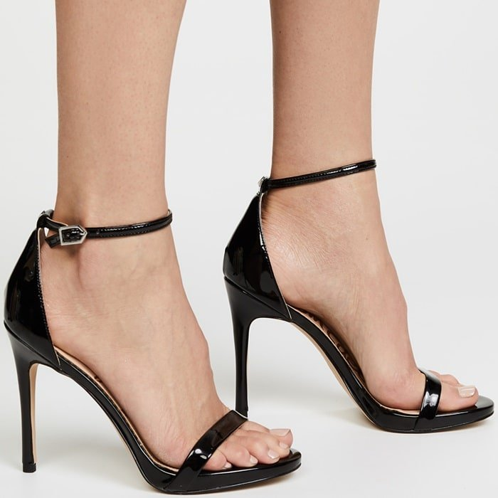 Sexy Barely There Ariella Sandal With Leg Lengthening Stiletto