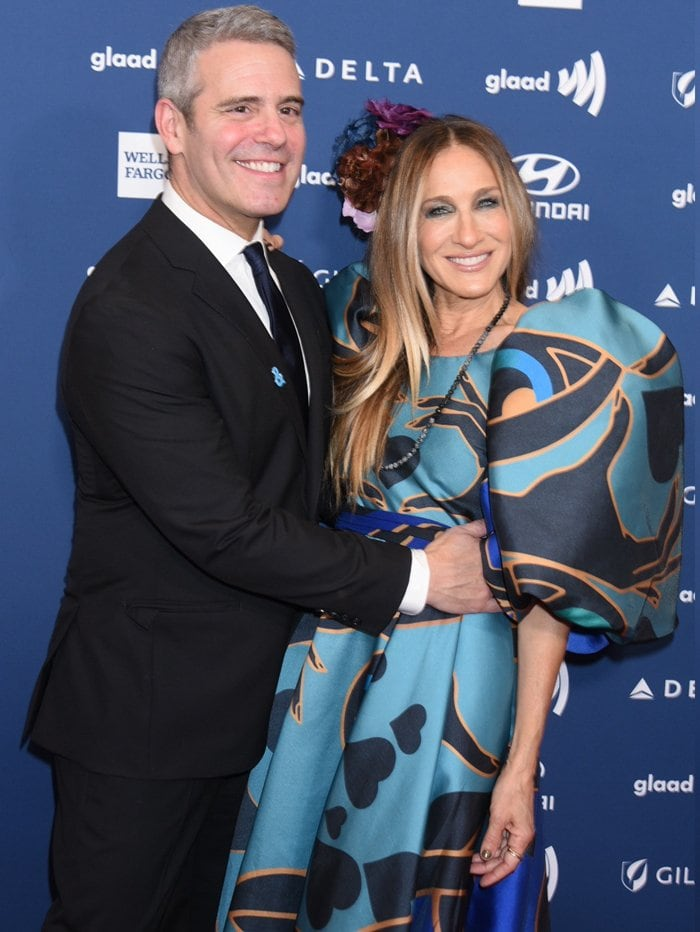 Sarah Jessica Parker presented her friend Andy Cohen the Vito Russo Award at the 2019 GLAAD Media Awards